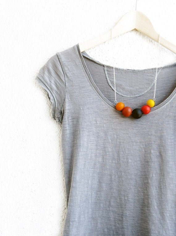 Handmade round beads Necklace