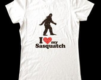 I Love my Sasquatch shirt - Soft Cotton T Shirts for Women, Men/Unisex, Kids