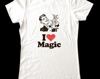 I Love (Heart) Magic shirt - Soft Cotton T Shirts for Women, Men/Unisex, Kids