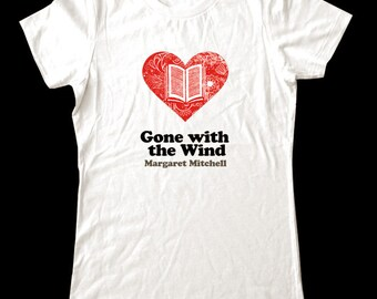 Love (Heart)  Gone with the Wind - Soft Cotton T Shirts for Women, Men/Unisex, Kids
