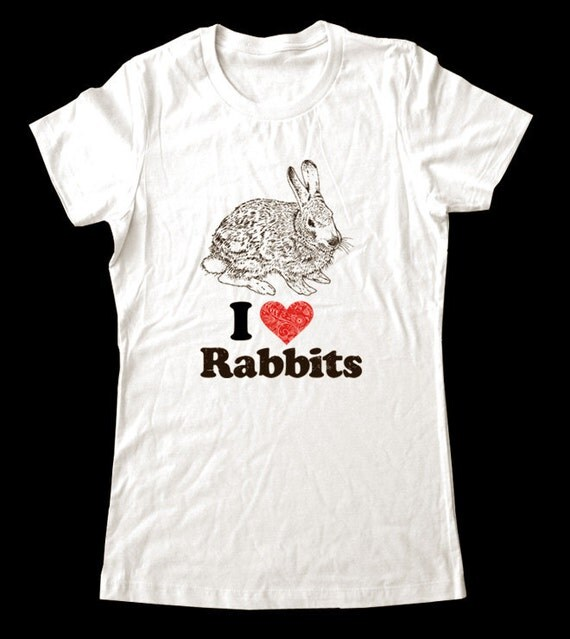 I Love (Heart) RABBITS - Soft Cotton T Shirts for Women, Men/Unisex, Kids