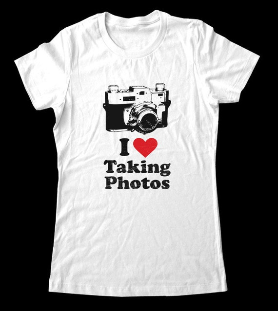 I Love (Heart) Taking Photos - Soft Cotton T Shirts for Women, Men/Unisex, Kids