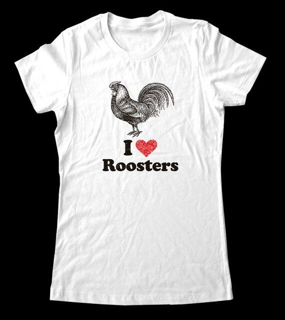 I Love (Heart) Roosters Tee Shirt - Soft Cotton T Shirts for Women, Men/Unisex, Kids