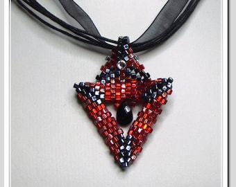 Beadwoven Necklace - BWN04 - GOTHIC