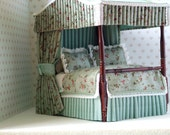 Four Poster and Matching Dressing Table 1/12 Scale (RESERVED FOR SANDY)