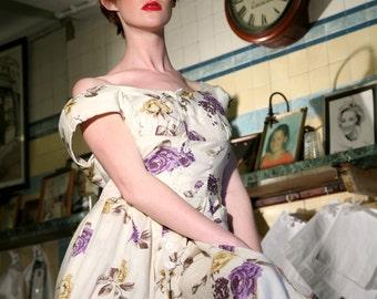Floral Vintage 1950's Inspired Dress