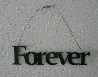 Inspirational Word FOREVER Wall Hanging Home Decor Metal