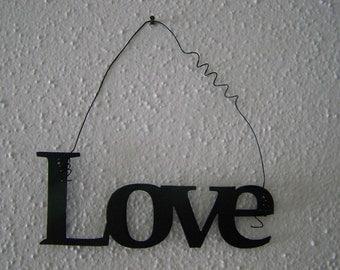 Inspirational Word LOVE Wall Hanging Home Decor Metal