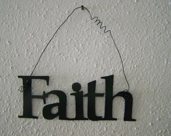 Inspirational Word FAITH Wall Hanging Home Decor Metal
