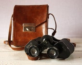 Old french Colmont PARIS BINOCULARS in its original leather bag