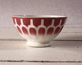 1 LOVELY vintage Digoin   Pink - RED  BOWL cafe au lait  - Shabby chic -