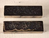 2  Vintage  French wooden RASBERRY and STRAWBERRY  Rubber Stamps - SCRAPBOOKING