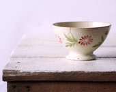1 SHABBY but CHIC  vintage French BOWL Digoin bols cafe au lait  - with Rosa flowers