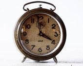 Beautiful Vintage French JAZ SHABBY CHIC Alarm clock