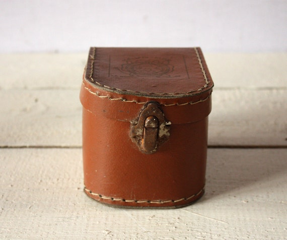 LOVELY  old french Mini BOX Carton SUITCASE