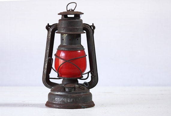 Old original german LANTERN Nier-FEUERHAND Nr.276 Superflam LOFT Industrial