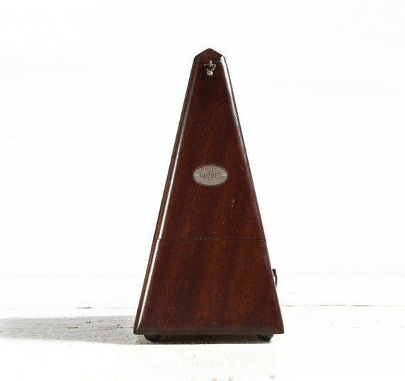 Vintage FRENCH Maelzel Paquet Wooden Cased Metronome 1815 - 1846