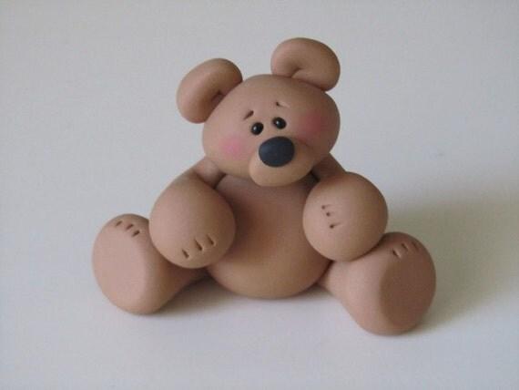 Whimsical Polymer Clay Bear