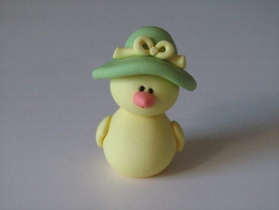 Whimsical Polymer Clay Chick