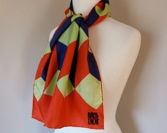 CHRISTIAN DIOR Op Art Oblong Scarf by Miss Dior