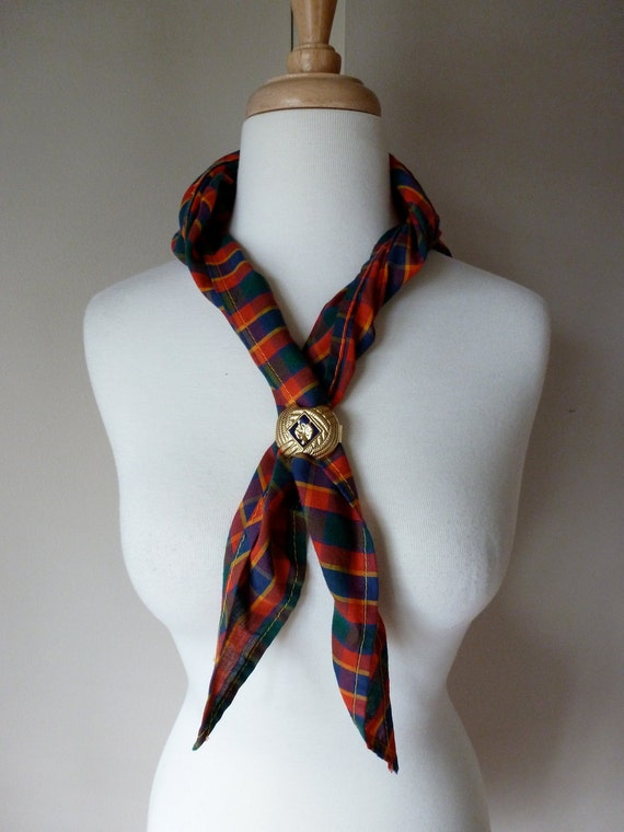 Vintage Boy Scout Kerchief with Scarf Slider