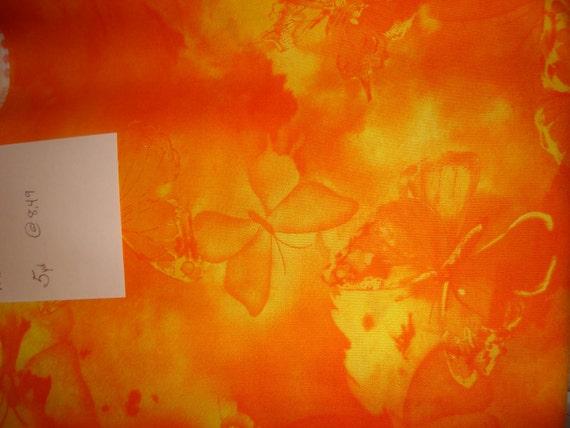 Orange and Yellow butterfly batik