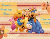 Winnie the Pooh autograph book with a personalized cover for your Disney vacation