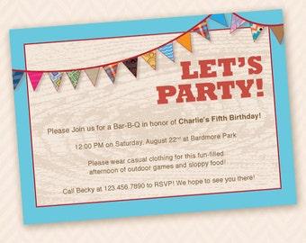 Outdoor, Fun Birthday Party Invitation