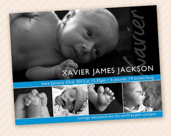 5 Image Birth Announcement for Boy or Girl