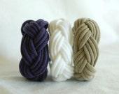 Fabric Bracelets Cuffs - Upcycled - by LimeGreenLemon