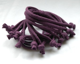 Cotton jersey bracelet cuff PURPLE