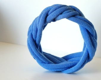 Fabric Bracelet Cuff in Bright Light Blue by LimeGreenLemon