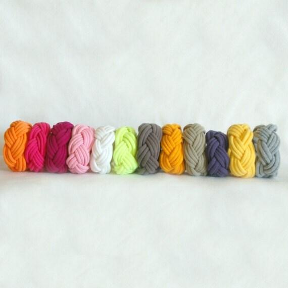 Fabric Bracelets Cuffs - 9 FOR 25 - by LimeGreenLemon