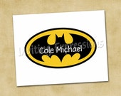 Batman Thank You Note Cards - Personalized Stationery