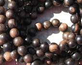 Tiger ebony (kamagong) 8mm round beads perfect for a mala