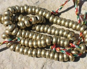 Brass rondelle beads for your mala