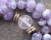 Amethyst necklace inspired by Buddhist prayer mala