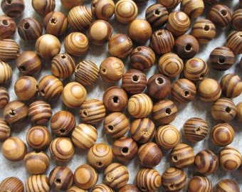 Lot of 110 Beautiful burly wood beads for your mala