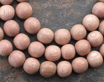 Rosewood beads good enough to eat (but don't)