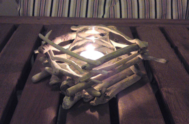 Items similar to Driftwood Candle Holder, Beach wedding, Driftwood ...
