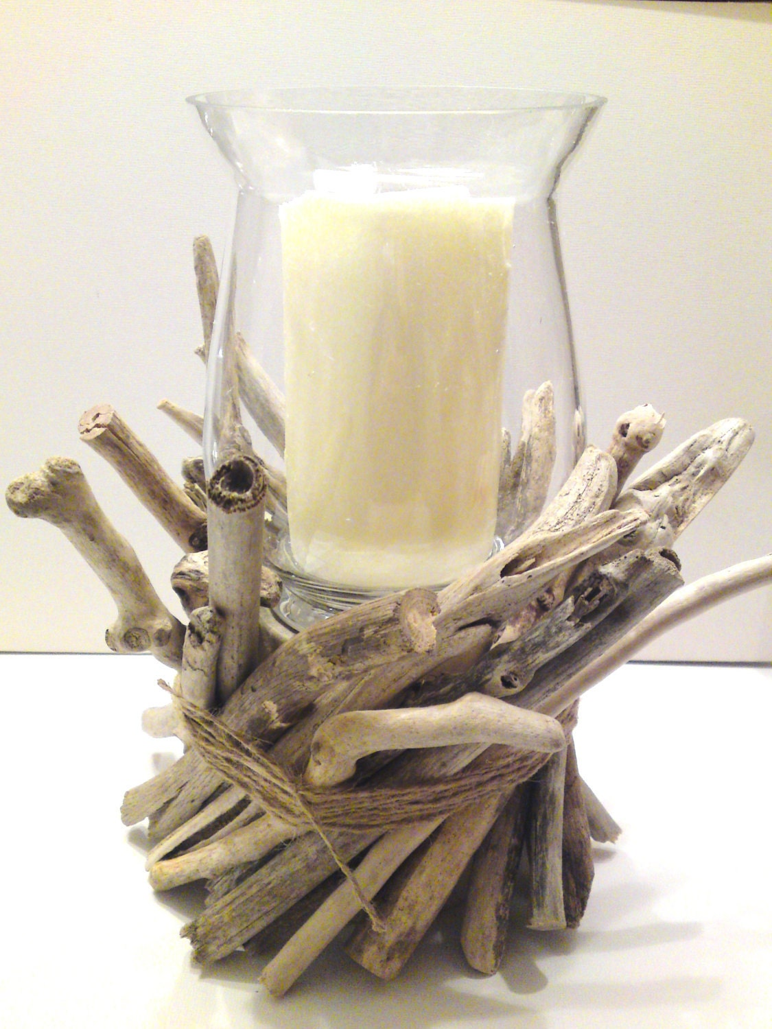 sale driftwood centerpiece driftwood candle holder