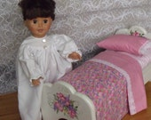 18 inch doll furniture painted wood doll bed