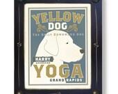 Yellow Labrador Retriever Yoga Custom Art Print Personalized