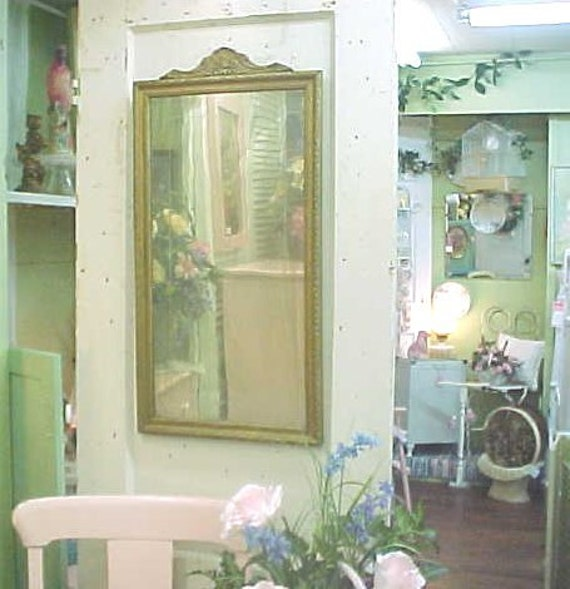 Vintage Mirror...Shabby Delicious...VINTAGE Golden and Oodles of  Wonderful Ghosting