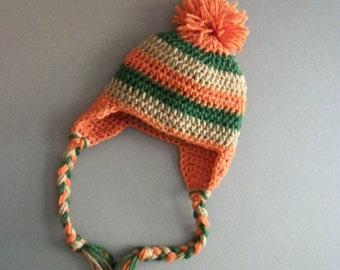 Baby Boy Hat, Baby Hat, Crochet Earflap Hat, Boy hat