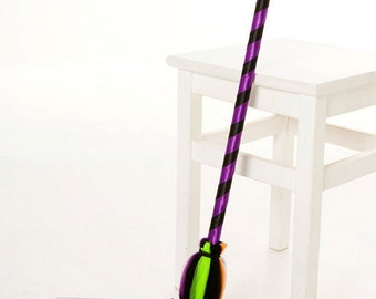 READY TO SHIP: Spellbinder Broomstick - Halloween Witch Costume Accessory - Child Size - Cutie Patootie Designz