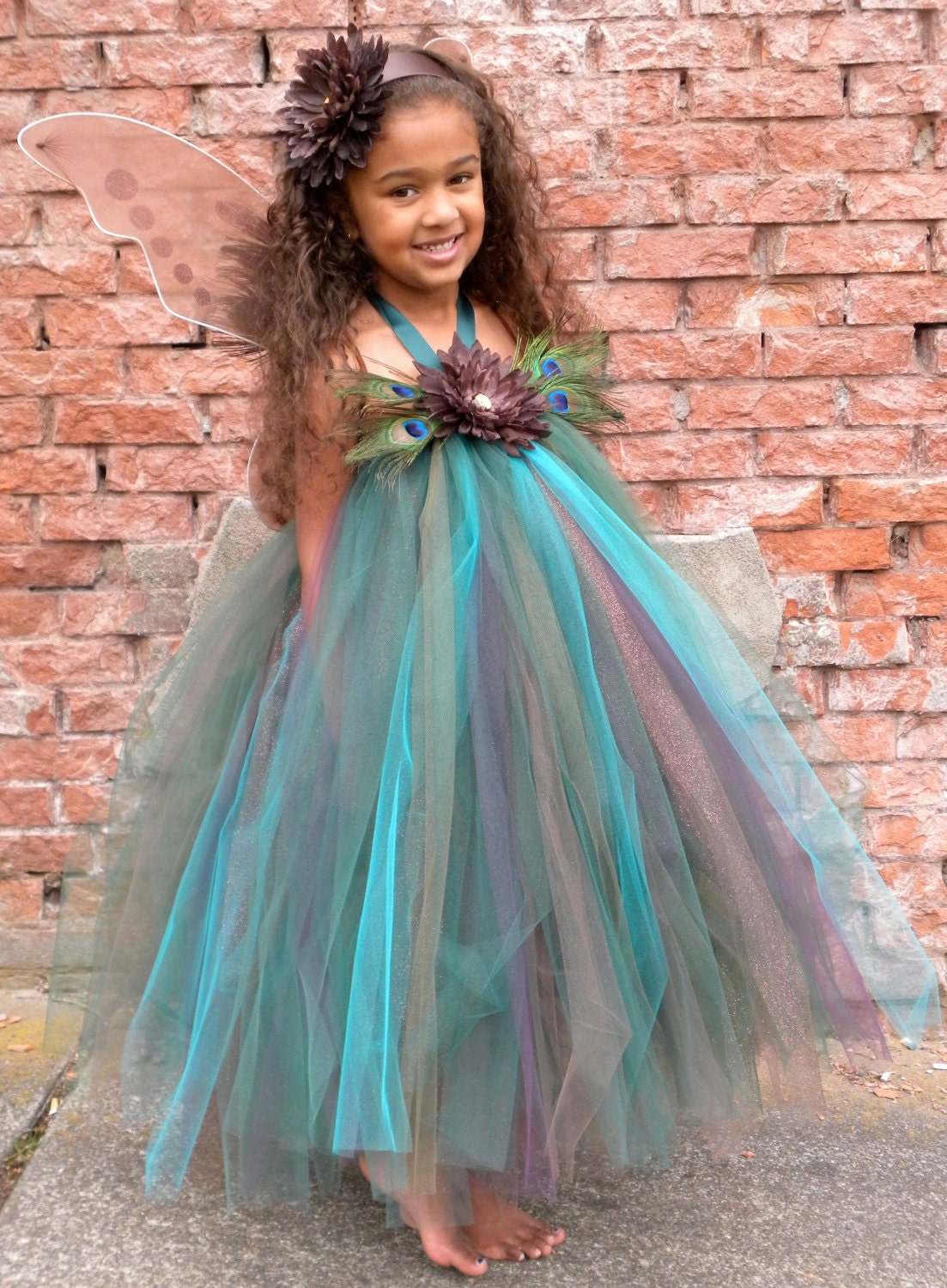 Flower Girl Tutu Dress Precious Peacock by