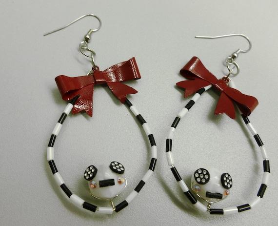 Tim Burton Inspired Earrings