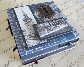 Matchbox trinket box with 8 tiny drawers - Architectural
