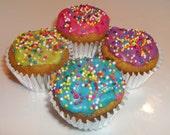 Neon Mini Cupcakes - Pumpkin